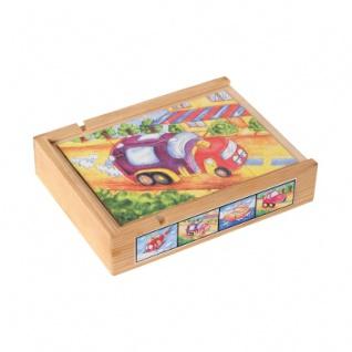 Magnetpuzzle-Set (4) Fahrzeuge in Holzbox