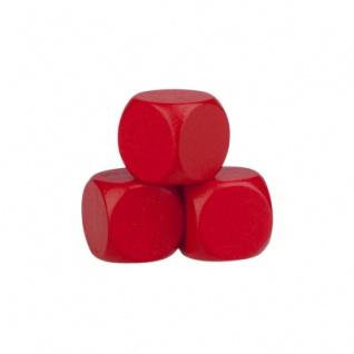 Blankowürfel - 16mm - Holz - rot