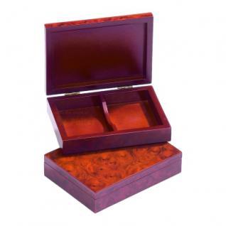Box für Spielkarten - Designfurnieroptik Wurzelholz