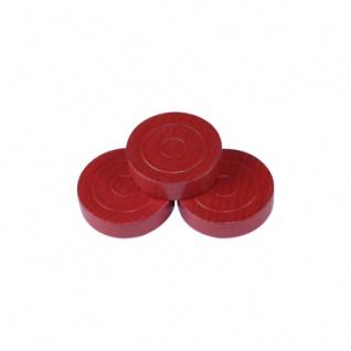 Damestein - Mühle - Backgammon - 31x8mm - rot - Vorschau 1