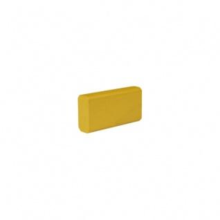 Baustein - Leiste klein - 50x12, 5x25 mm - gelb