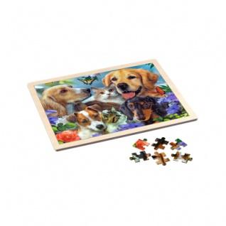 Holz-Rahmenpuzzle - Togetherness - Hunde