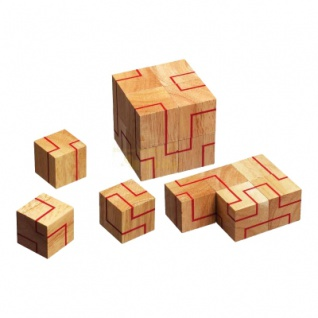 Endlosband - 8 Puzzleteile - Denkspiel - Knobelspiel - Geduldspiel