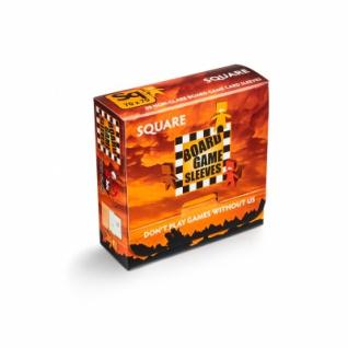 Kartenspiel-Hülle, quadratisch (50 Stück, 69 x 69 mm), blendfrei