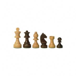Schachfiguren - Staunton - braun - Königshöhe 70 mm
