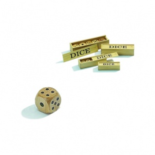 Holzwürfel - 5er Set - Ahorn - 6-seitig - W6 - 25 mm