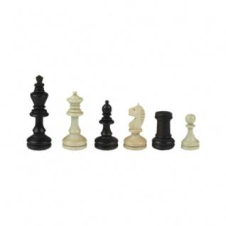 Schachfiguren - Bohemia - Staunton - braun - Königshöhe 96 mm