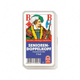 Doppelkopf Senioren - Kunststoffetui - extra große Karten