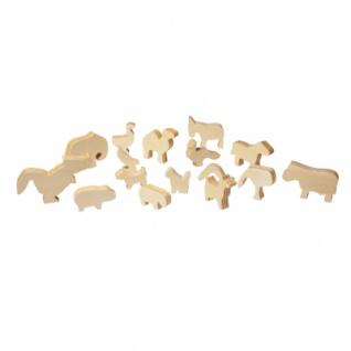 Holzfiguren Tiere - 16 unterschiedliche Figuren - versch. Größen