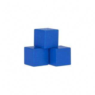 Würfel - Quader - kantig - 16mm - blau