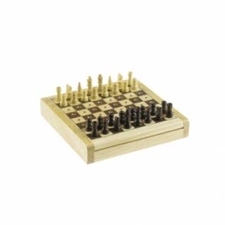 Steckschach - Holz - 12x12 cm