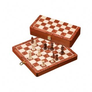 Schachkassette - Feld 32 mm - mit Figuren - KH 61mm