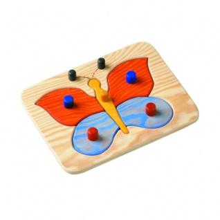 Greifpuzzle - Schmetterling - 5-teilig - mit großen Knöpfen - 29, 5 x 22, 5 cm