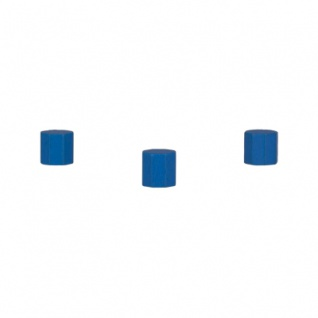 Achteckstein Ocean - 10x10mm - blau