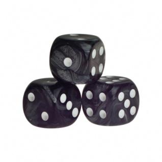 Würfel - Rio - schwarz - Kunststoff - 16 mm
