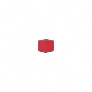 10 mm kantig rot Holz Holzwürfel Spielsteine