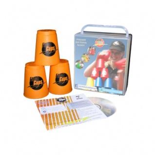 - FlashCups - 12 Stück -orange mit Lunchbox+DVD