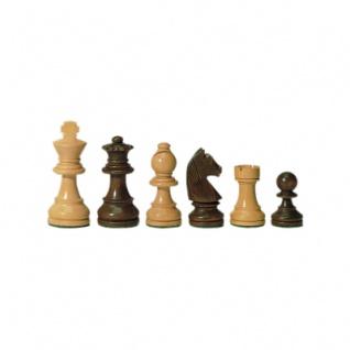 Schachfiguren - Staunton - braun - Königshöhe 83 mm