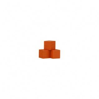 Würfel - Quader - kantig - 8mm - orange