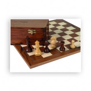 Königshöhe 89mm moderne Form Palisander und Buchsbaum Schachfiguren
