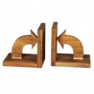 Bücherstützen Pfeile aus Holz