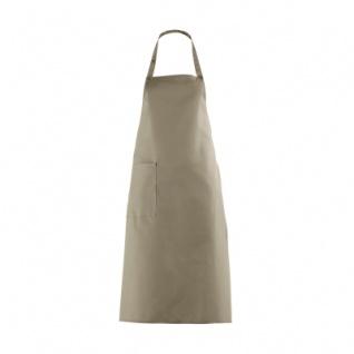 Latzschürze mit großer Tasche - sand - beige - 100 cm
