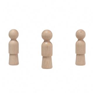 Holzkegel - Holzfiguren - Pöppel - ca. 7 cm