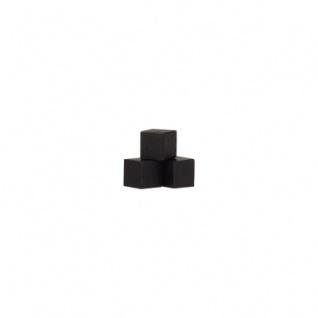 Würfel - Quader - kantig - 8mm - schwarz