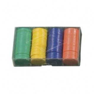 100 Spielchips in 5 Farben - 4g
