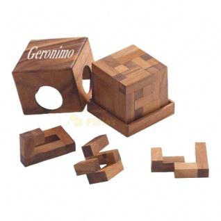 Geronimo Würfel - 10 Puzzleteile - Denkspiel - Knobelspiel - Geduldspiel