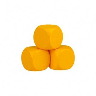 Blankowürfel - 20mm - gelb