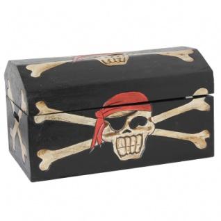 Piraten-Truhe Totenkopf 4er-Set