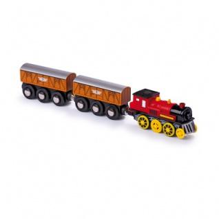 Lokomotive elektrisch - mit zwei Anhängern