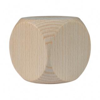 Würfel XL - Blanko - W6 - Ahorn - Holz - 60 mm