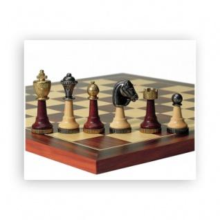 Schachfiguren - Holz und Metall - Staunton - Königshöhe 75mm