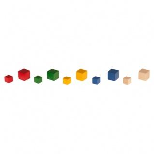 Würfel - Spielsteine - kantig - natur - Holz - 10 mm - Vorschau 4