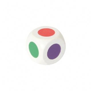 Farbwürfel 20 mm - weiß - 6 Farben