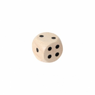 Augenwürfel 25 mm - Holz - natur