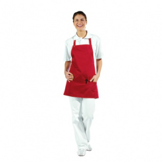 3 fach-Taschenschürze - rot - 65 cm