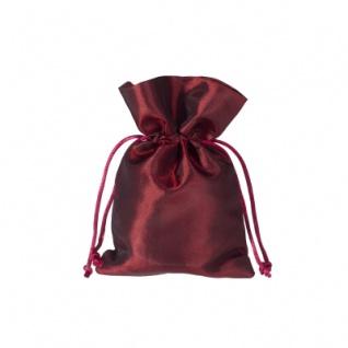 Stoffbeutel aus Satin - ca. 10 x 15 cm - bordeaux - rot