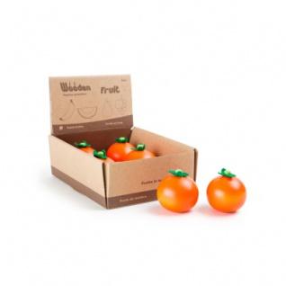 Display Orange aus Holz