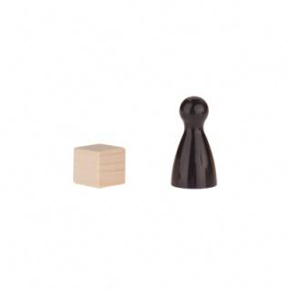 Würfel - Spielsteine - kantig - natur - Holz - 10 mm - Vorschau 3