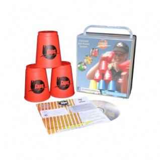 - FlashCups - 12 Stück - rot mit Lunchbox+DVD