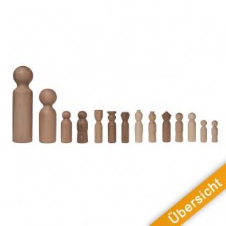 Holzkegel - Holzfiguren - Pöppel - ca. 10 cm - Vorschau 3