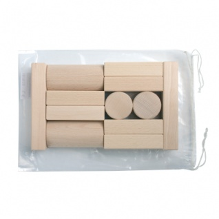 14 Bausteine im Polybeutel - natur - 50mm