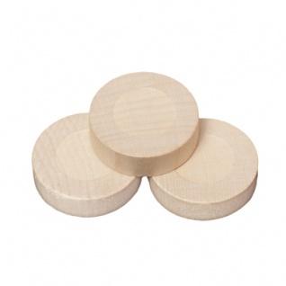Spielsteine - rund - Holz - natur - 28 x 8 mm