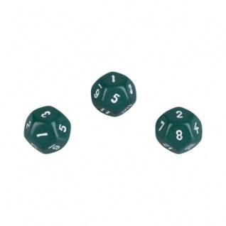 12-seitiger Würfel - Dodekaeder - W12 - grün