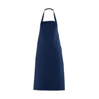 Latzschürze mit großer Tasche - marine-blau - 100 cm