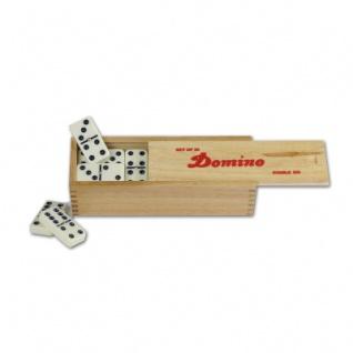 6er Domino groß im Holzkasten