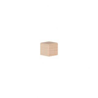 Würfel - Spielsteine - kantig - natur - Holz - 10 mm - Vorschau 2